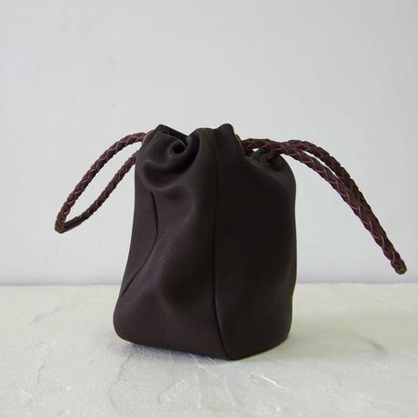 巾着バッグ-Mサイズ・ダークブラウン(DKT-M-DBR)