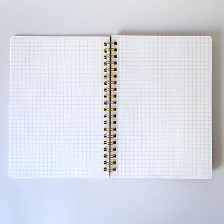 ダブルリングノート(ホワイト)/ Double Ring Notebook (white)
