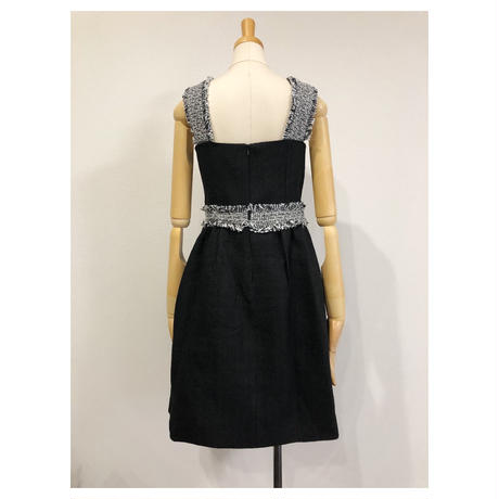 tweed trim dress