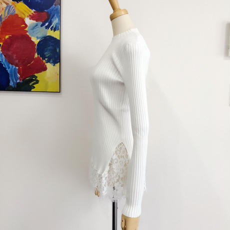 lace trim knit