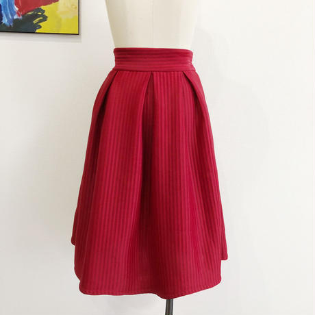 stripe volume skirt