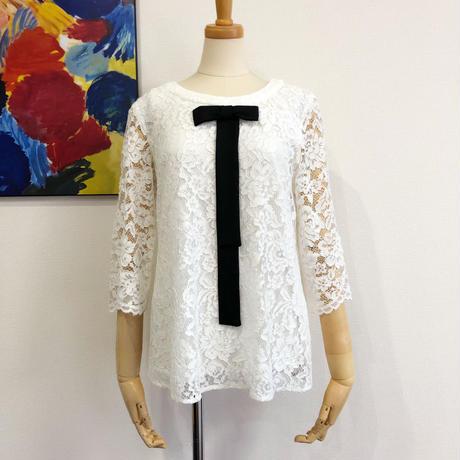 bow tie lace blouse