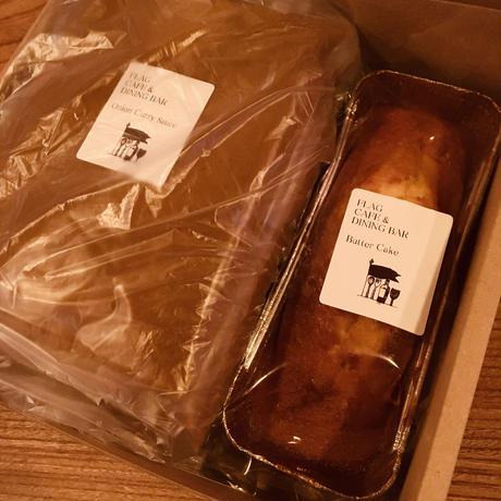 【セット】カレーとコーヒー香るリッチナッツパウンドケーキ