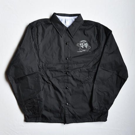 "TARIKI / ""佗力""throw-up COACH JACKET BLACK"
