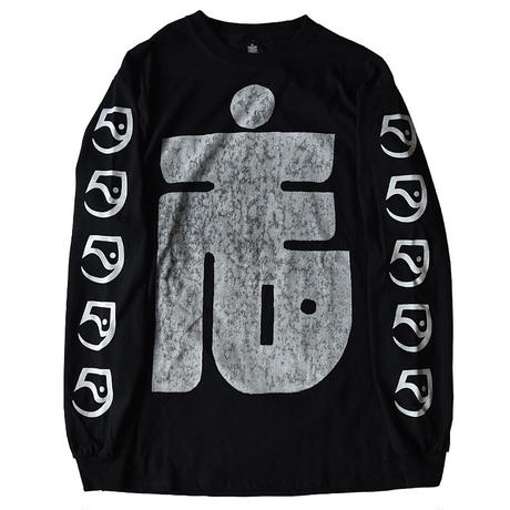 "TARIKI / ""た"" LONG SLEEVE TEE BLACK"