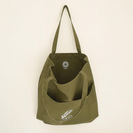 WOODBRAIN / open/close Tote OG