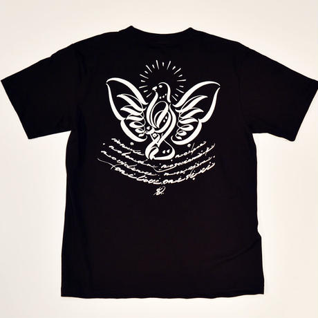 USUGROW / P-DOVE BLACK TEE