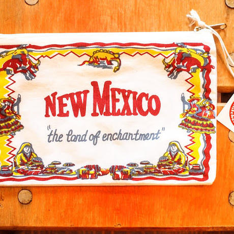 """RED and WHITE Kitchen Company"" Map Pouch[NEW MEXICO]"