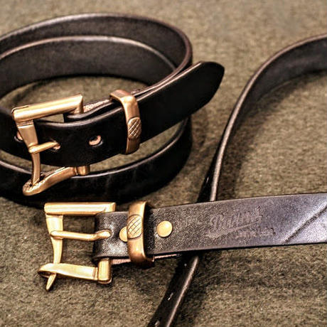 """BARNS"" Tochigi Leather Fireman buckle Belt(Black)"