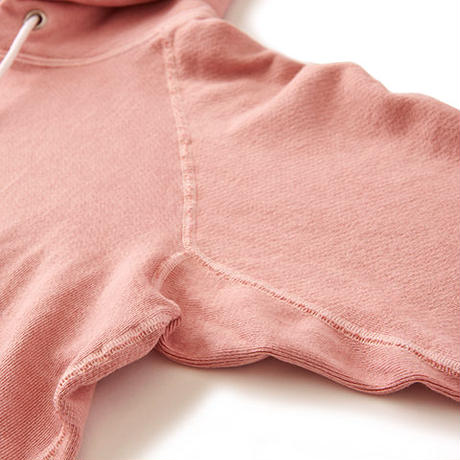 """GOOD ON"" RAGLAN PULLOVER HOOD SWEAT(P-Coral)"