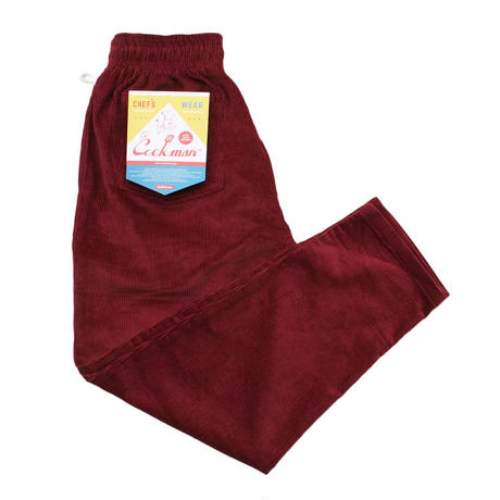 """COOKMAN"" Chef Pants[Corduroy/WINE]"