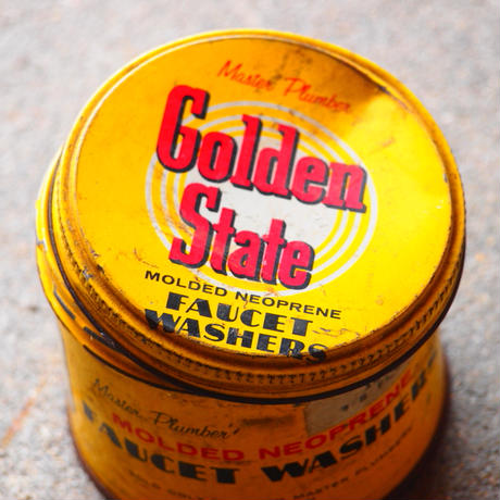 Golden State faucet washers Metal Tin [アメリカ買付け]