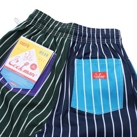 """COOKMAN"" Chef Shorts[Crazy Stripes Cold]"