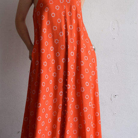 """RUMBLE RED"" Aloha Dot Dress"