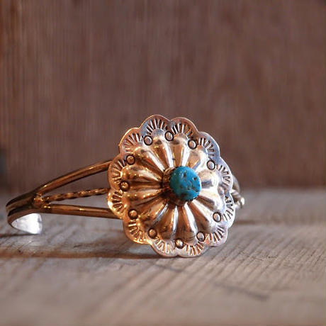 """NAVAJO"" Flower Concho Bangle"