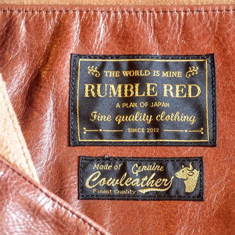 """RUMBLE RED"" Leather Belt Vest"