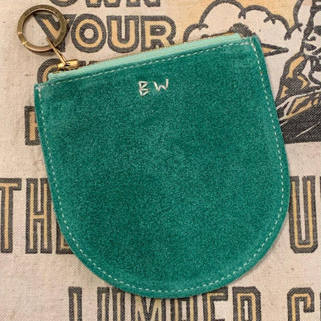 """BUTTON WORKS"" SUEDE SMALL POUCH"