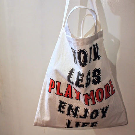 "Original ""PLAY MORE""  2Way Tote Bag"