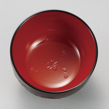 M11970-1 レンジ汁椀 さくら彫栃木目