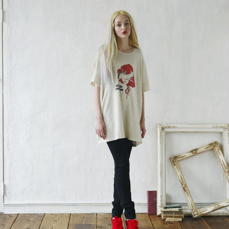 bedsidedrama REDHOOD GIRL BIGポケットTシャツ ホワイト