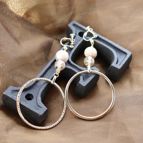classic rings gold and beige dot f