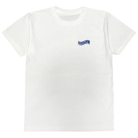 mitsumeブルー刺繍Tシャツ[WHITE]