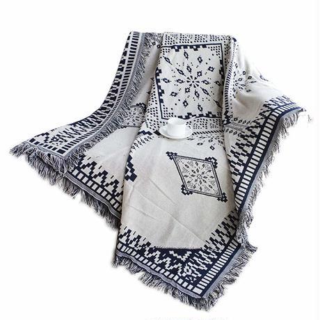 宮廷風 フリンジ付き 綿製品のブランケット 多機能 ソファーのカバー ラグ テーブルクロス テーブル掛け枚 バスマット 毛布 ソファカバー エスニック  B01GYIRCNY