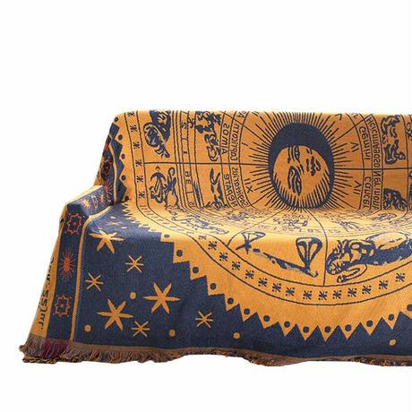 フリンジ付き 綿製品のブランケット 多機能 ソファーのカバー ラグ テーブルクロス テーブル掛け枚 バスマット 毛布 ソファカバー エスニック B01IATGK6K
