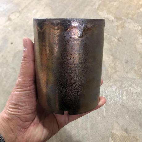 シリンダーポット 金属釉薬