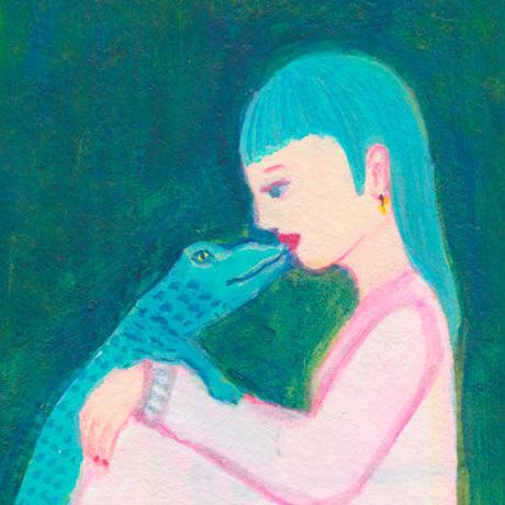 「Kiss」三浦由美子 原画 ミニフレーム作品