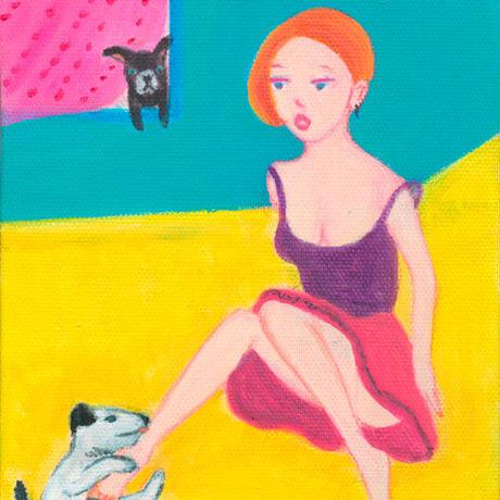 「 Roommate」三浦由美子 原画 キャンバス作品