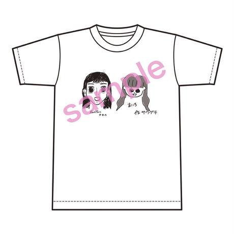 限定!福山舞佳、沢口愛華直筆イラスト生誕Tシャツ(sizeL,XL)※ランチェキ1枚付き