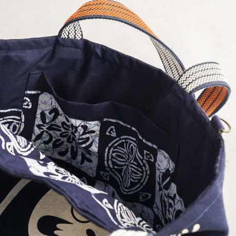 職人手作り帆布カバン(縁起もん ダルマ)