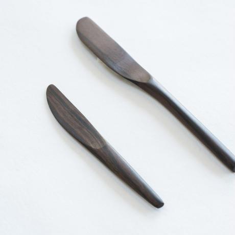 バターナイフ&ジャムベラ(黒檀 小)