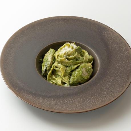 広島県産牡蠣とルンビニ農園の小松菜ジェノベーゼパスタ(2食分)