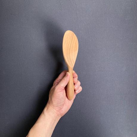 丸柄ナナメ杓子左利き用 20cm