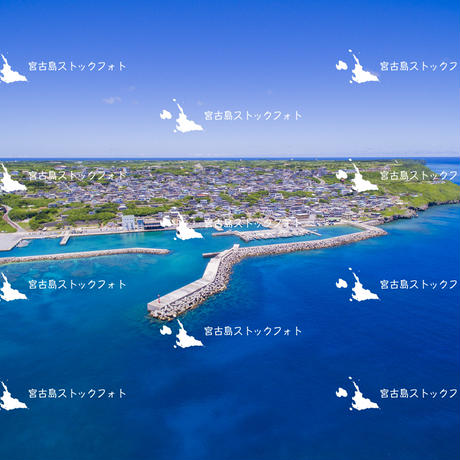 宮古島空撮 伊良部島 佐良浜漁港