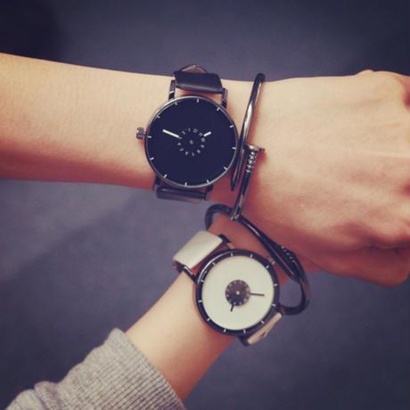 【ペア価格】シンプルペアウォッチ ブラック×ホワイト  腕時計 メンズ レディース シンプル ギフト 人気 プレゼント 時計 おしゃれ 安い かわいい プチプラ ブレスレット