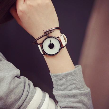 シンプルウォッチ ホワイト  腕時計 メンズ レディース シンプル ギフト 人気 プレゼント 時計 おしゃれ 安い かわいい プチプラ ブレスレット 白 モノトーン レザー