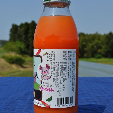 【ケース販売 350ml×40本入】君津三舟山のにんじんジュース