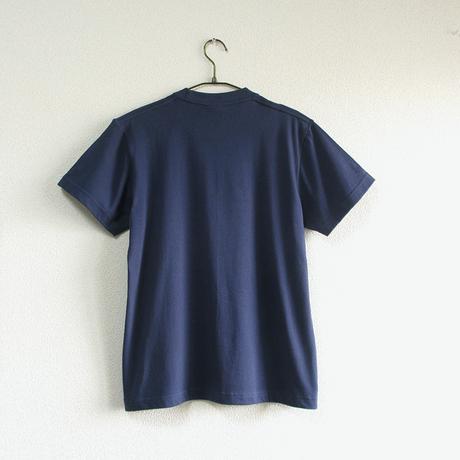 カフェクロトコラボ  おとな半袖Tシャツ ブルー (クロト猫)