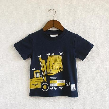 こどもTシャツ ブルー(フォークリフト)