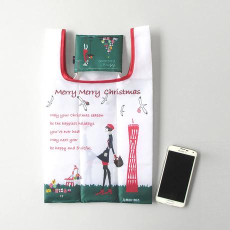 コンビニエコバッグ(クリスマスマチルダ) オフホワイト
