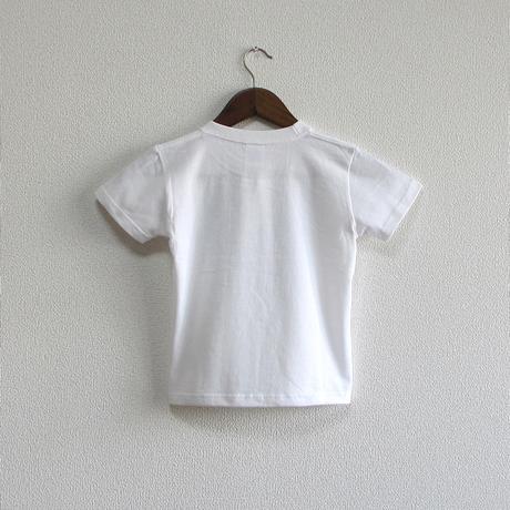 こどもTシャツ ホワイト(ガントリークレーン)