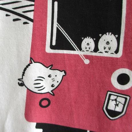 おとなTシャツ ホワイト(摩耶山のレトロケーブルカー)