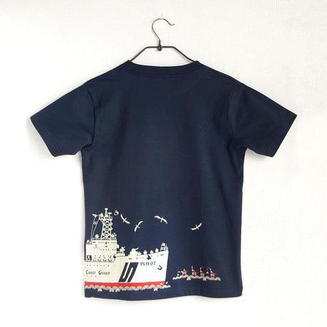 第五管区海上保安本部コラボ おとなTシャツ ブルー(巡視船せっつ)