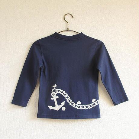 こども長袖Tシャツ ブルー (大小イカリ)