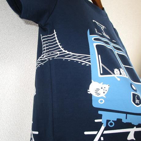 こどもTシャツ ブルー(ケーブルカー)