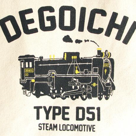 JRジップトートバッグ ナチュラル(蒸気機関車D51)