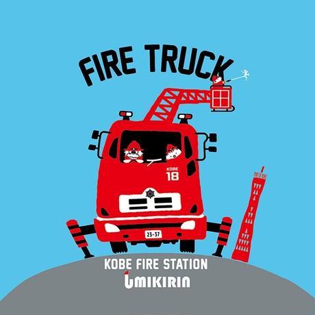 神戸市消防局コラボ缶バッジ32mm(うりぼう消防士&救急車&消防車)